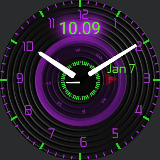 neon compass