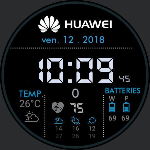 black / blue Huawei square