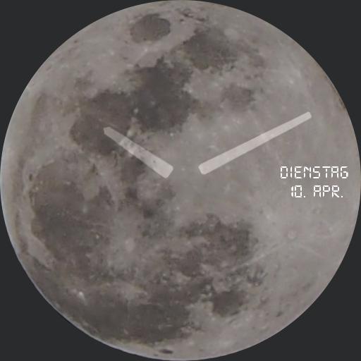 Full Moon Analog Simple German Days