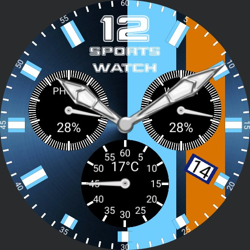 Swiss style sports black dials