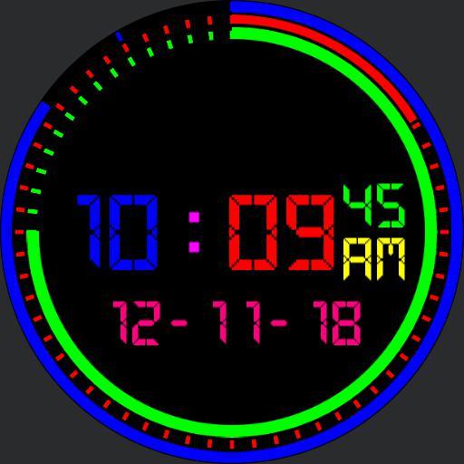 Multi Color LED Digi watch V1
