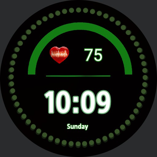 green watch face