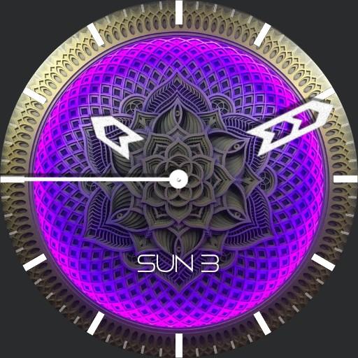 Glowing Purple Mandala
