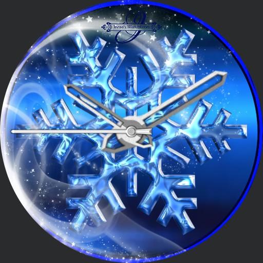 Blue Snowflake Animation