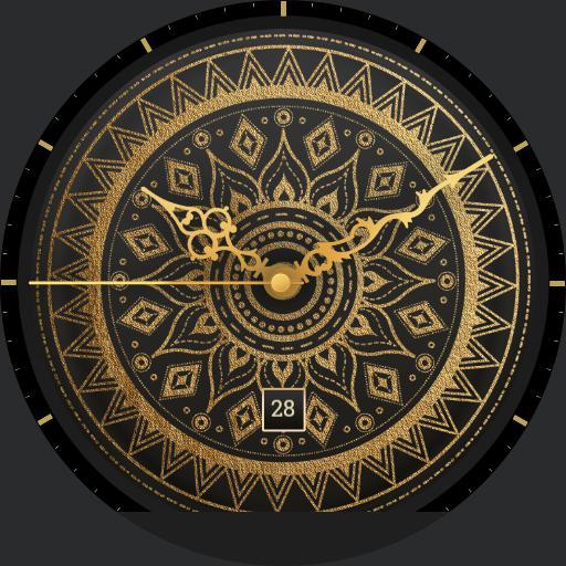Mandala Gold/Black with Date