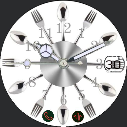 Fork and knif watch