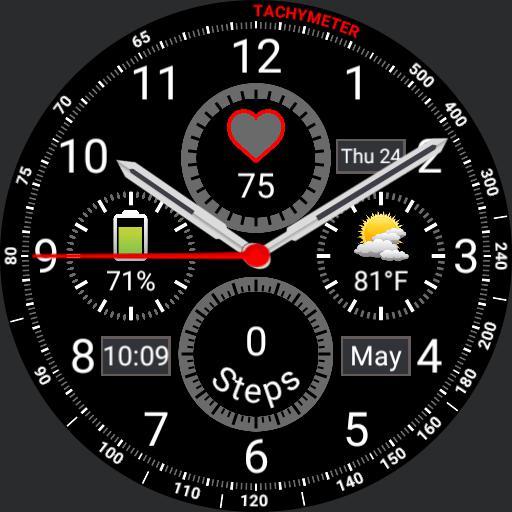 Samsung Gear S3 Frontier Mod 2 - 4 chronograph Ver 2