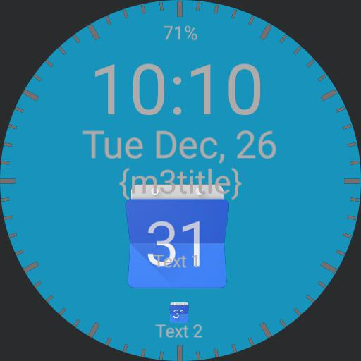 Blue/Clean Calendar/12h/complications