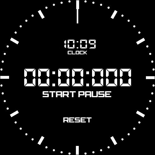 Stopwatch watch face