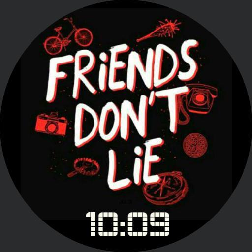Stranger Things - Friends Dont Lie white