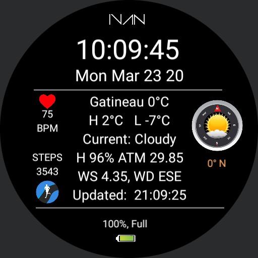 IVAN - Weather Info Dial V 2.0