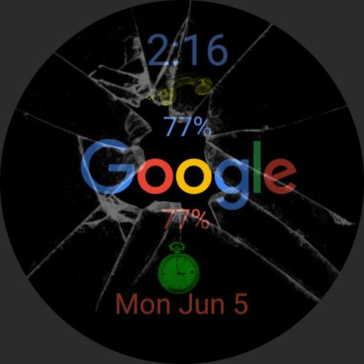 broken Google window