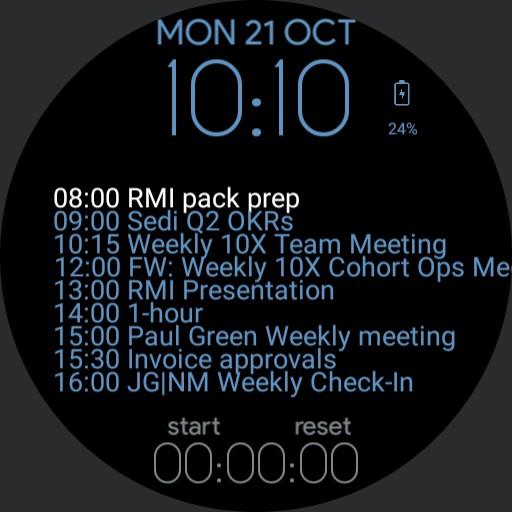 jg calendar ONLY watch Copy