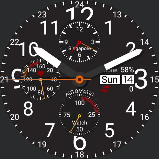 Military Watch w/ heartrate