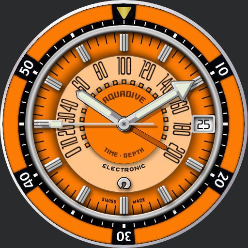 Aquadive Time Depth 50 C.1970s