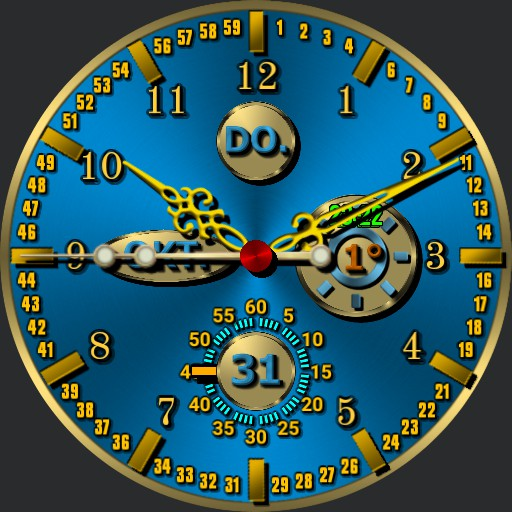 0118  Clock and compass