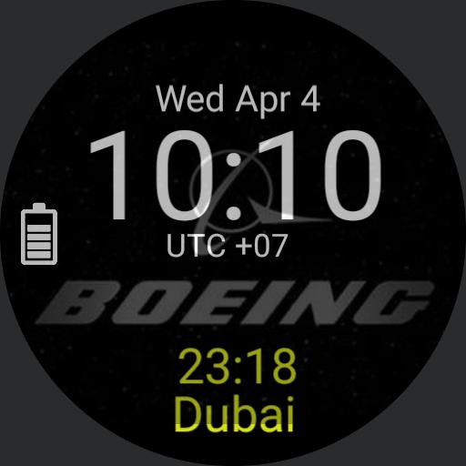 Boeing dual time zone