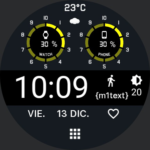 Round indicator