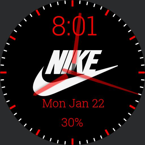 Red/White/Black Nike Watch Face 2