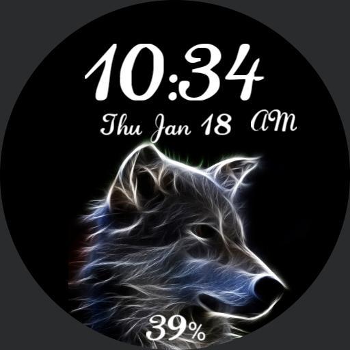 Wolf Watch Face