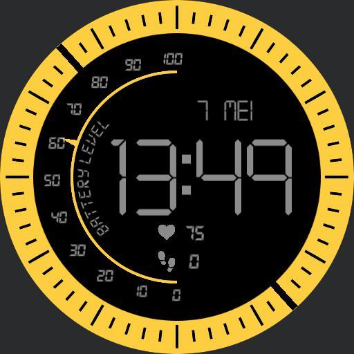 digital yellow watch