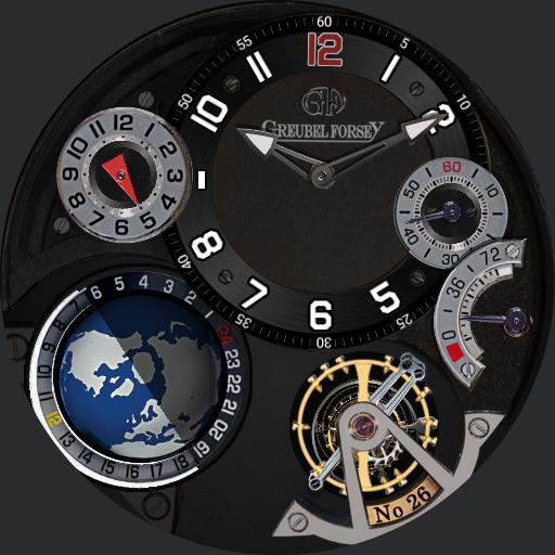 Greubel Forcey GMT Black Copy