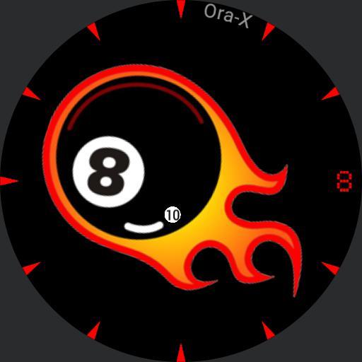 Ora-X 8-Ball on Fire