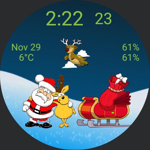 Santa and reindeer on a break