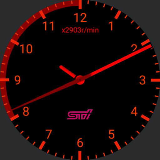 STi gauge with red line