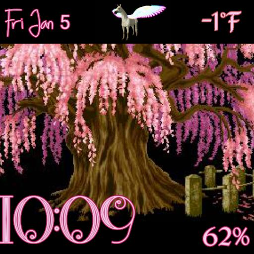 Animated Pink forest