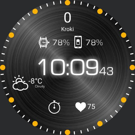 Czarno-Pomaranczowy Zegarek