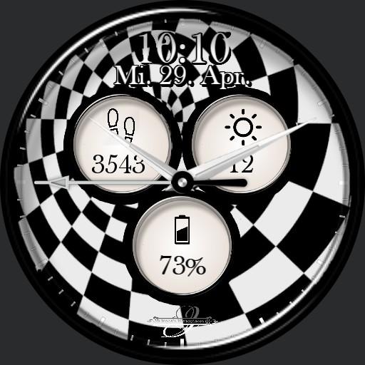 Schwarz Weiss Spirale Animation