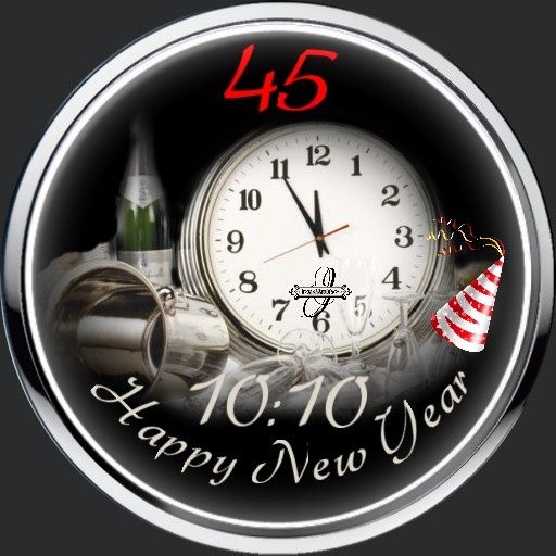 Happy New Year Watch Animation