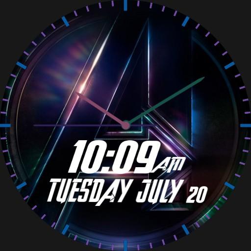 avengers logo watch face