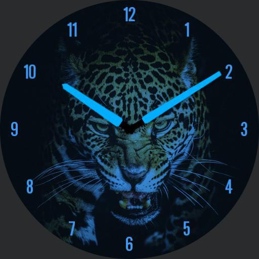 Leopard blue neon