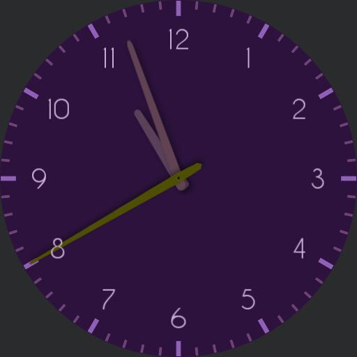 Analog Purple Watch