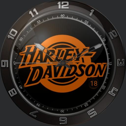 Harley Davidson Retro Orange
