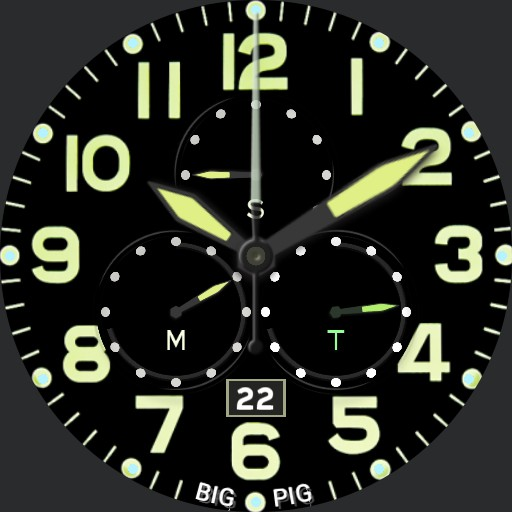 BIG PIG - Simple Military Chrono WWII