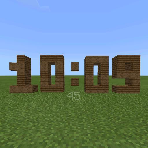 Minecraft Digital 12 hour time