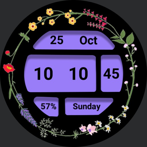 Grid display ucolor with 3 floral borders