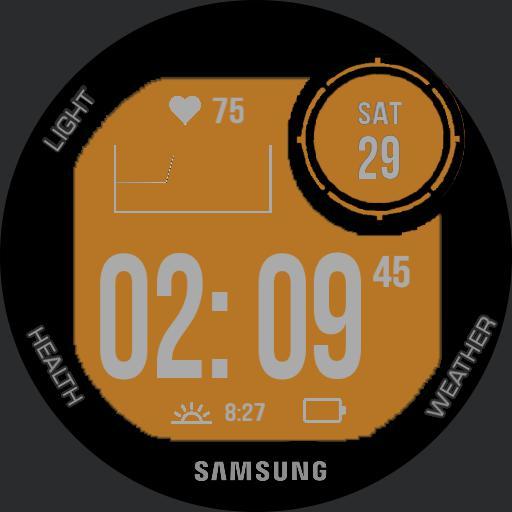 """Orange light"" Garmin Instinct for Samsung"