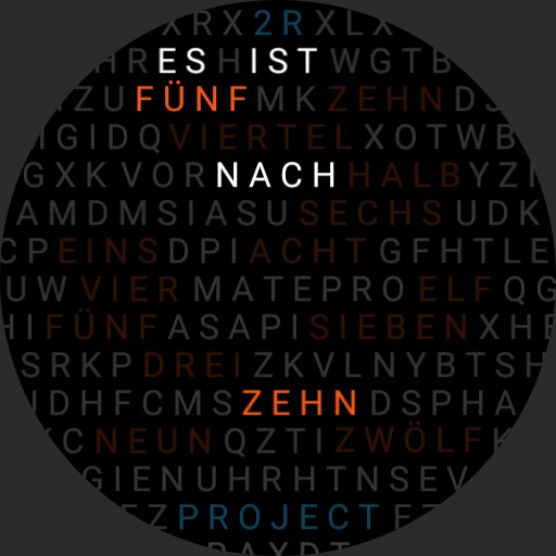 2R - Word Clock v2 DE