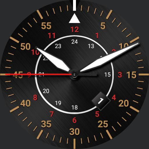 Aviator watch.  multicolor