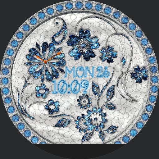 blue flowers bling