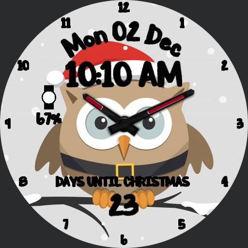 owl Christmas countdown