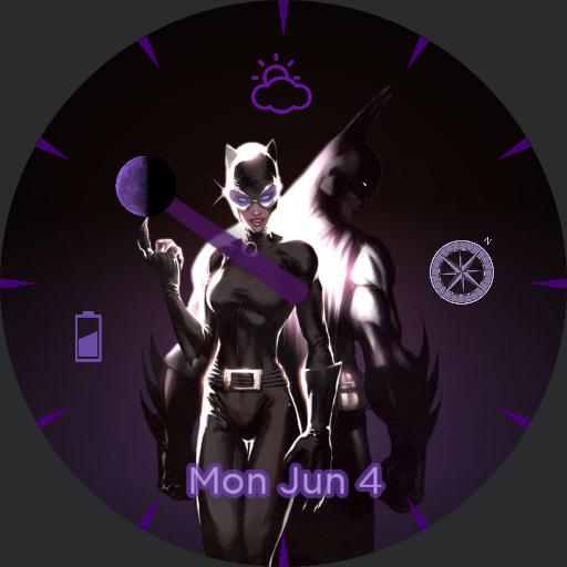 batman/Catwoman purple love