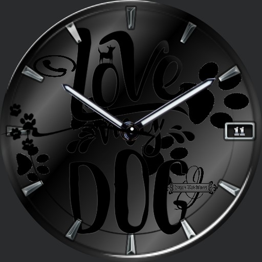 love Dog dark black