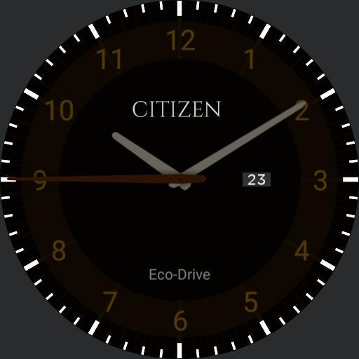 Citizen Eco-Drive Formal Brown