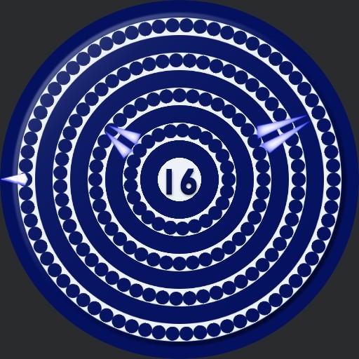 Blue and white spirals