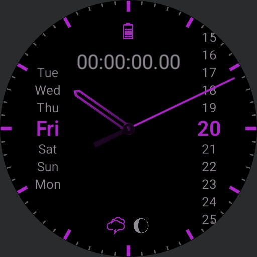 Understated Purple with stopwatch